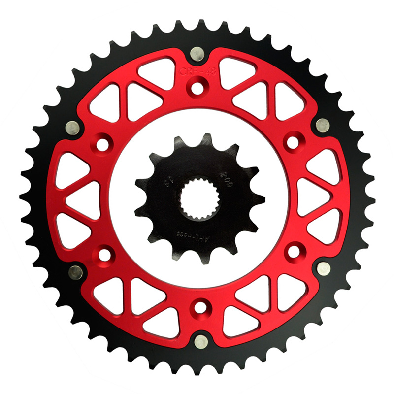 ФОТО High Performance Motorcycle 13T Front & 48T Rear Sprocket Kit For HONDA CRF 250 F R X CRE 125 R Enduro CRE F 250 300 R CR 125 R