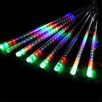 Security LED Meteor Shower Rain Lights 30cm 50cm 8 Tube Drop Icicle Snow Falling Rain Light