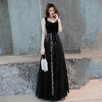 Black Sexy Backless Female Cheongsam Noble Fashion Prom Dresses Floor Length Qipao Stage Show Performance Dress Large Size 3XL