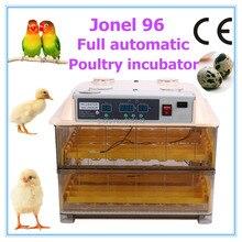Totalmente automático JN96 incubadora de eclosión de los huevos de aves de corral pollo pato ganso codorniz con motor para la venta