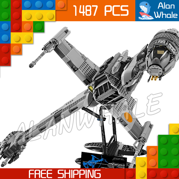 1487pcs Space Wars Starfighter B-Wing Fighter 05045 Highly Detailed Figure Building Blocks Toys  Games Compatible With LegoING1487pcs Space Wars Starfighter B-Wing Fighter 05045 Highly Detailed Figure Building Blocks Toys  Games Compatible With LegoING