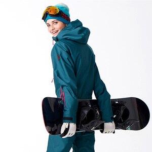 Image 4 - FIUME che scorre Marca Giacca Impermeabile Per le donne Snowboard Suit donne Giacca Da Snowboard Donna Snowboard Set Abbigliamento # B7091