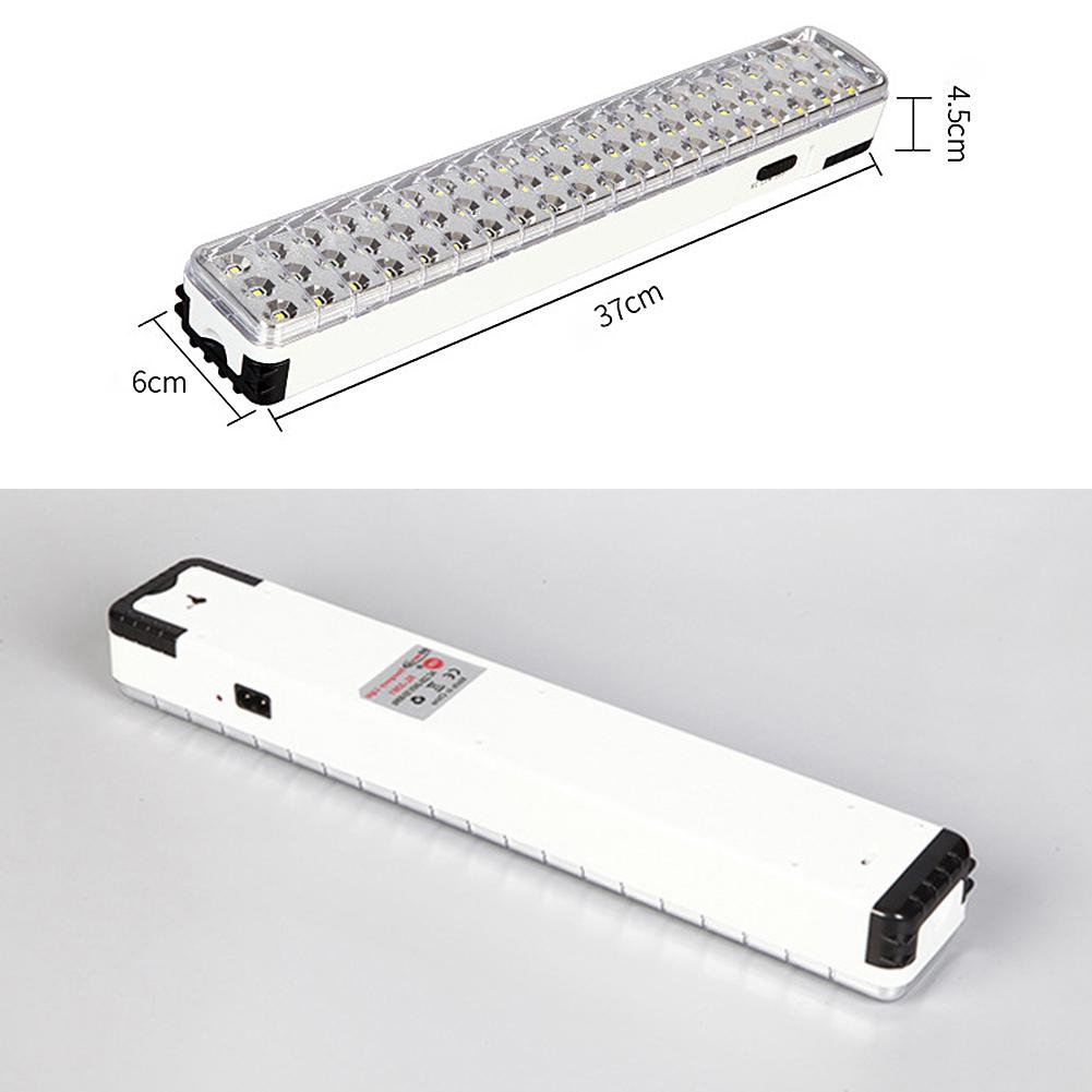 220v Eu 60led Emergency Light Energy Saving Fire Charging Type Rechargeable Emergency Light Outdoor Camping Charging Type Professional Lighting