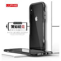 New High Quality Luxury LUPHIE Aluminum Metal Bumper For Iphone X Case Frame With Metal Button