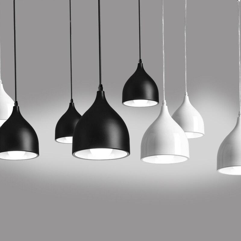 Nordic contracted pendant lights, 90V - 265V E27 aluminum pendant lamp, for Home store decoration lighting nordic contracted fashion droplight optical design e27 aluminum chimney pendant light home decoration lighting