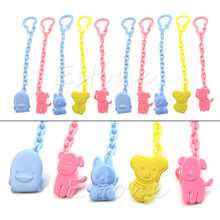 Lot Cute Baby Infant kids Dummy Pacifier Soother Chain Clips Holder Toddler Toy(China)