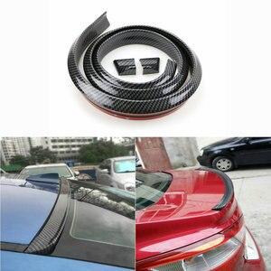 Image 1 - Universal nachahmung Carbon Faser Auto Hinten Dach Spoiler Stamm lip Flügel Auto Boky kit Trim Motor Shields 1,5 meter