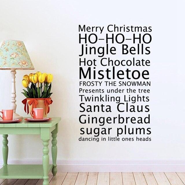 T405 frohe weihnachten grüße in Englisch Sprüche mode wandaufkleber ...