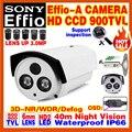 Discount Hd Sony CCD Effio Surveillance Camera 800/900TVL Analog 960 Outdoor Waterproof IP66 Infrared Night Vision Video Bracket
