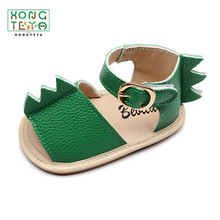Sandals Shoes Dinosaur-Shape Baby-Boys-Girls Summer Flats Non-Slip Rubber PU Hard-Sole