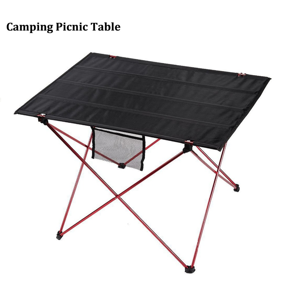 Outdoor Camping Table with Aluminium Alloy Picnic Table Waterproof - Furniture - Photo 4