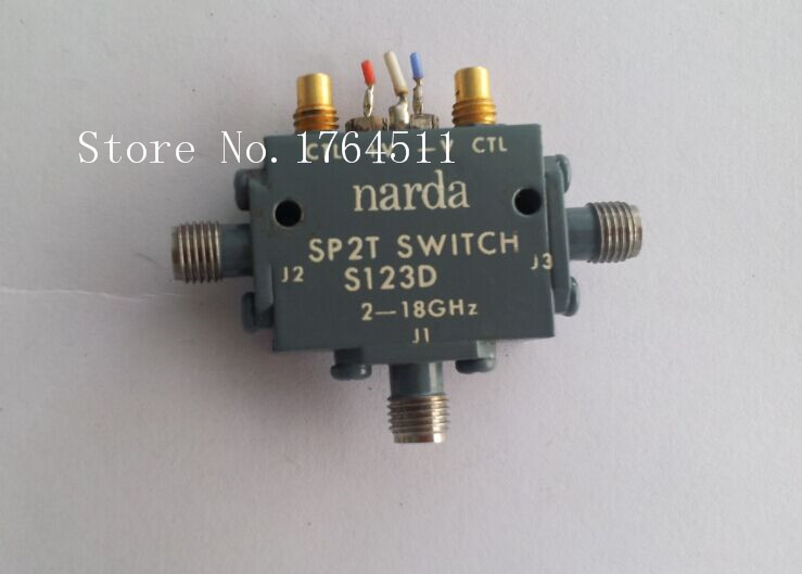[SA] Narda S123D 2-18GHZ SPDT RF microwave semiconductor switch 12V SMA [lan] gore okr01r71024 0 sma sma rf test line revolution angle 18ghz 60cm