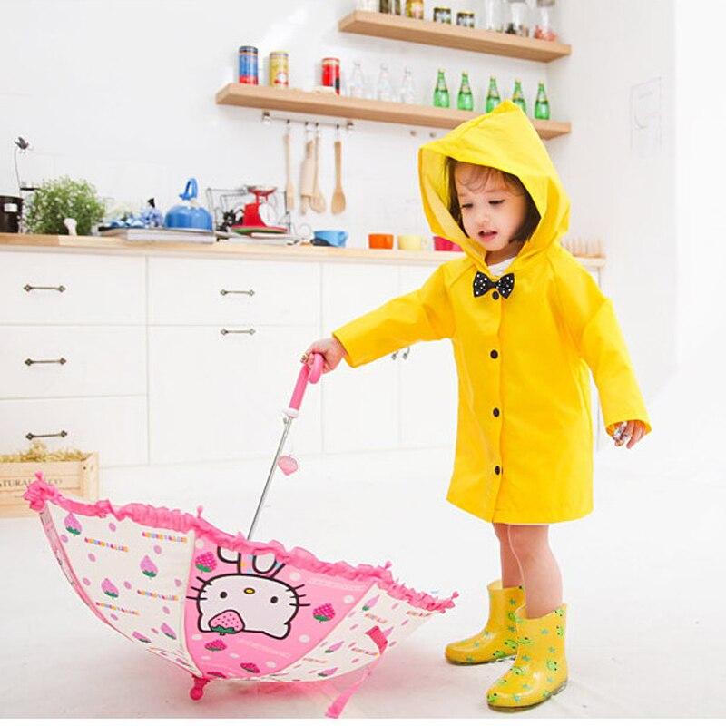 한국 학생 레인 코트 어린이 레인 코트 어린이 남녀 패션 판초 방수 레인 코트 레인 코트 자켓 S-XXL 3 색