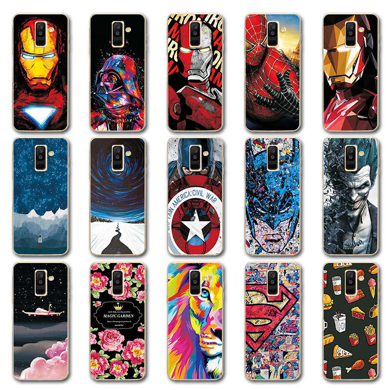 For Samsung A6 Plus 2018 Silicone Phone Case Cover For Samsung Galaxy A6Plus 2018 Iron Man Novelty Phone Shell Capa Cool Style