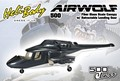 new version airwolf 500 size airwolf scale Fuselage Bell 222 TREX 500E helicopter W/retracts & Metal landing gear P2