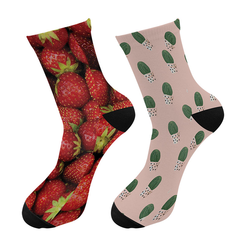 Men Fashions 3d Printed Cactus Strawberry Crew Socks Men Funny  Pineapple Avocado Long Socks Street Trend Tube Socks Drop Ship