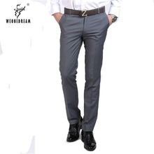 WEONEDREAM/ г. Новые Летние Стильные мужские строгие брюки, мужские черные деловые узкие брюки, Мужская дешевая одежда 28-39
