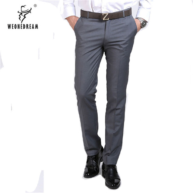Weonedream 2017 New Summer Style Mens Suit Pants Men Black Business