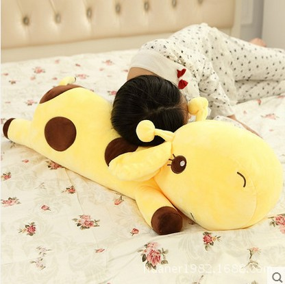 4 Kinds Cute High Quality Plush Lie Giraffe Pillow Staffed Deer Plush Toy Nap Pillow Chr ...