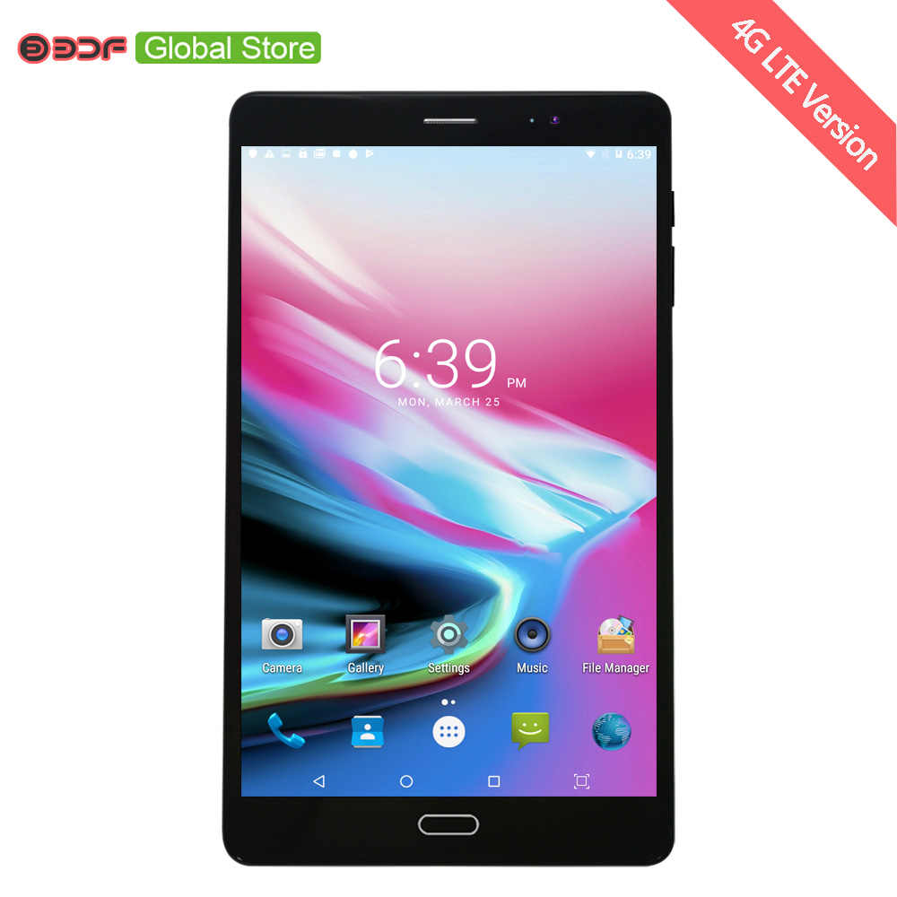 4G LTE Sim-kaart Mobiele Telefoontje Tablet Pc 8 Inch Android 6.0 4 CPU 4 GB + 32 GB 5MP + 12MP Camera 1920*1200 IPS Lcd-scherm