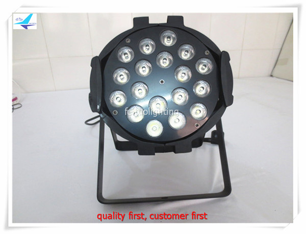 free shipping 8pcs/lot Stage DJ Par64 Lighting 18x10w LED RGBW 4in1 Par Can Light Lumiere Wash Strobe Pulse for Disco Club Party