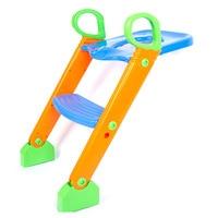 Baby Toilet Seat Kids Toilet Training Convenient Seat Chair Children Folding Potty Adjustable Ladder Chairs Child Supplies