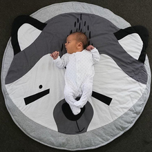 1 Unidades Recién Nacidos Estera Del Juego Del Bebé de la Historieta Animales Zorro Ronda Suave Jugar Dormir Estera Estera Alfombra Alfombras para Niños Navidad P15