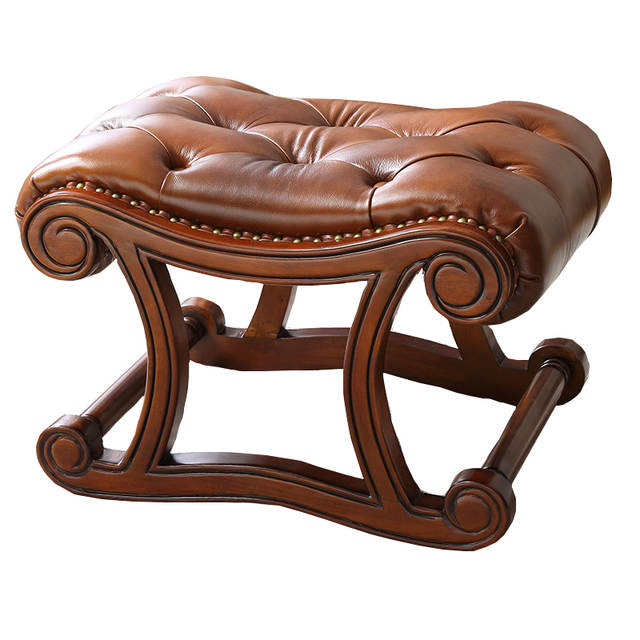 Remarkable Us 340 0 Louis Fashion American Rocking Chair Ottoman Solid Wood Leather Shoe Change Ottoman European For Stool Door In Stools Ottomans From Short Links Chair Design For Home Short Linksinfo