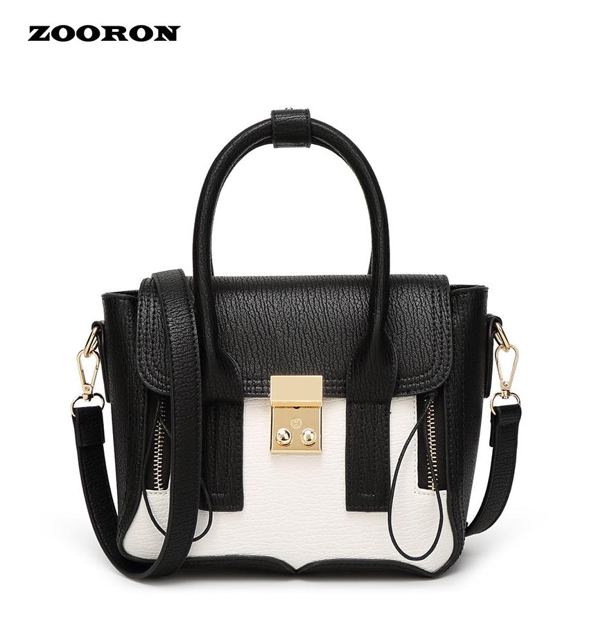 Prix pour ZOORON 2017 New European Fashion Véritable Sac À Main En Cuir Femmes Épaule Portable Sac