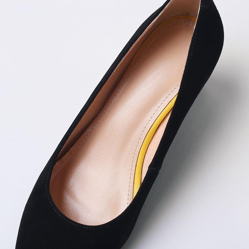 Travail Pompes Noir Talons Filles Femme Femmes Hauts En Talon Bout lavande Véritable Cuir À Coins Allbitefo Mode Pointu Chaussures Partie OPkTwZXui