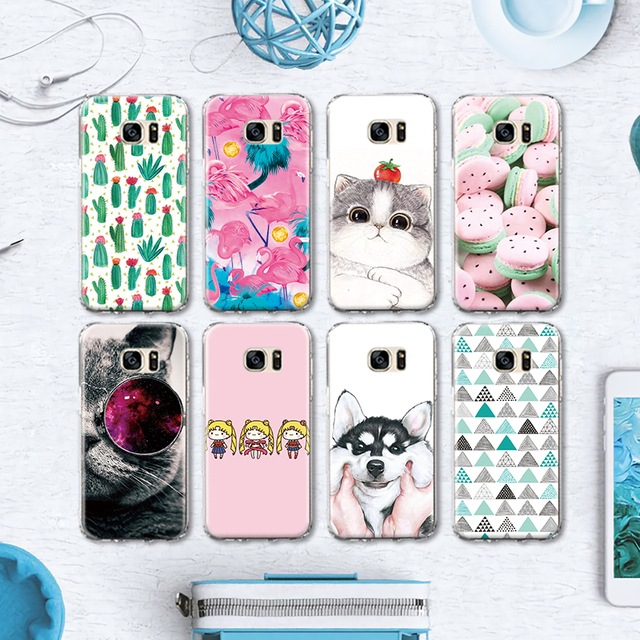 Us 2 35 Husky Cartoon Girl Pattern Cases For Samsung Galaxy S4 S5 Mini S6 S7 Edge S8 Plus Note 4 5 Grand Prime Silicone Case Coque Para In Phone
