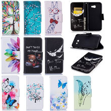 "Luxury Leather Case For Samsung Galalxy A7 2017 Case Flip 5.5"" Stand Wallet Card Holder Cover For Samsung A7 2017 Case Capa"