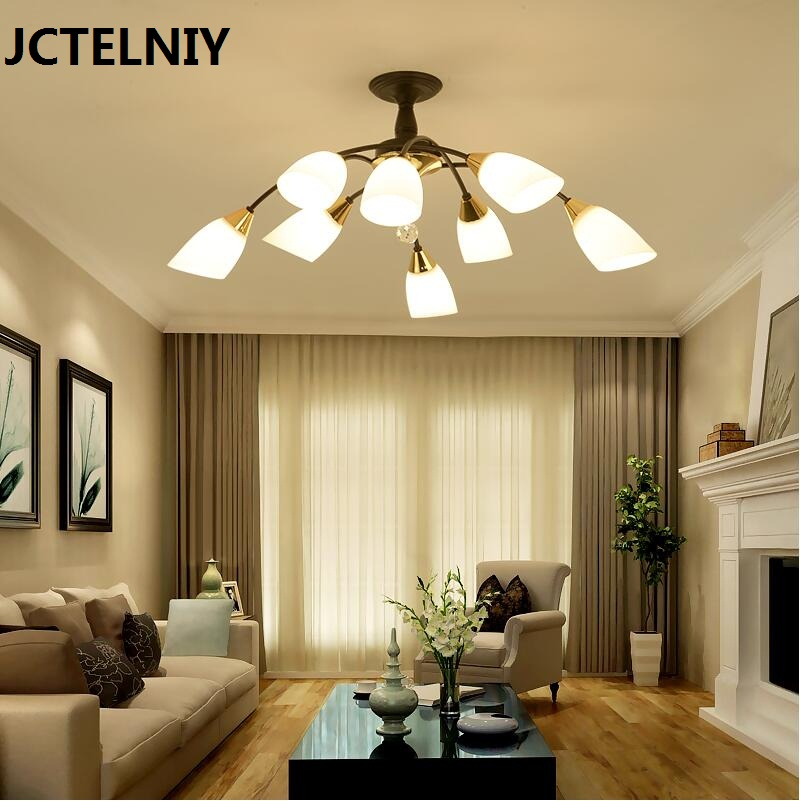 new pendant light fashion american style living room brief modern rustic wrought iron Black/white 85-265v  E27 american living new black jacquard fit