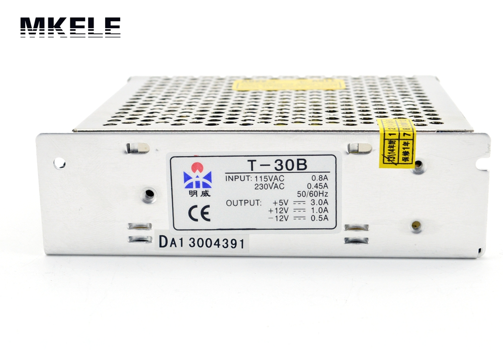 30W Triple output switching power supply 5V 12V -5V 3A 1A 0.5A power suply T-30A High quality ac dc converter t 120a triple output power supply 120w 5v 15v 15v power suply ac dc converter power supply switching