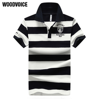 High Quality Brand Men Polo Shirt New Summer Casual Striped Cotton Men S Polo Contrast Color