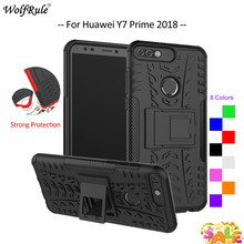 For Cover Huawei Y7 Prime 2018 Case TPU & PC Armor Bumper Protective Phone Case For Huawei Y7 Prime 2018 Cover Y7 2018 5.99'' for cover huawei y7 prime 2018 case tpu