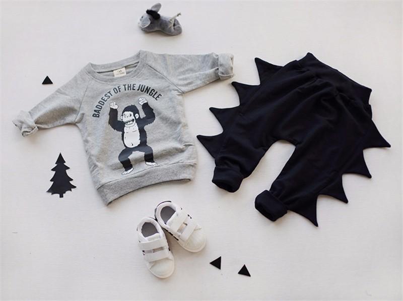6For Boys Girls Sweater T-Shirts Clothes Autumn Winter New Panda Bear Printing Tops Kids Sweatershirt  Tees Clothing Full Sleeve 4
