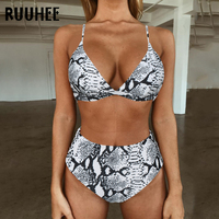 7f0bd754811 RUUHEE 2019 Bikini Swimwear Swimsuit Women Printed Bathing Suit Leopard  Bikini Set With Pad Female High