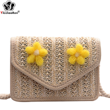 Fashion Handmade Woven Summer Beach Bag Rattan Crossbody Bags for Women 2019 Small Shoulder Bag Mini Ladies Handbags Sac A Main