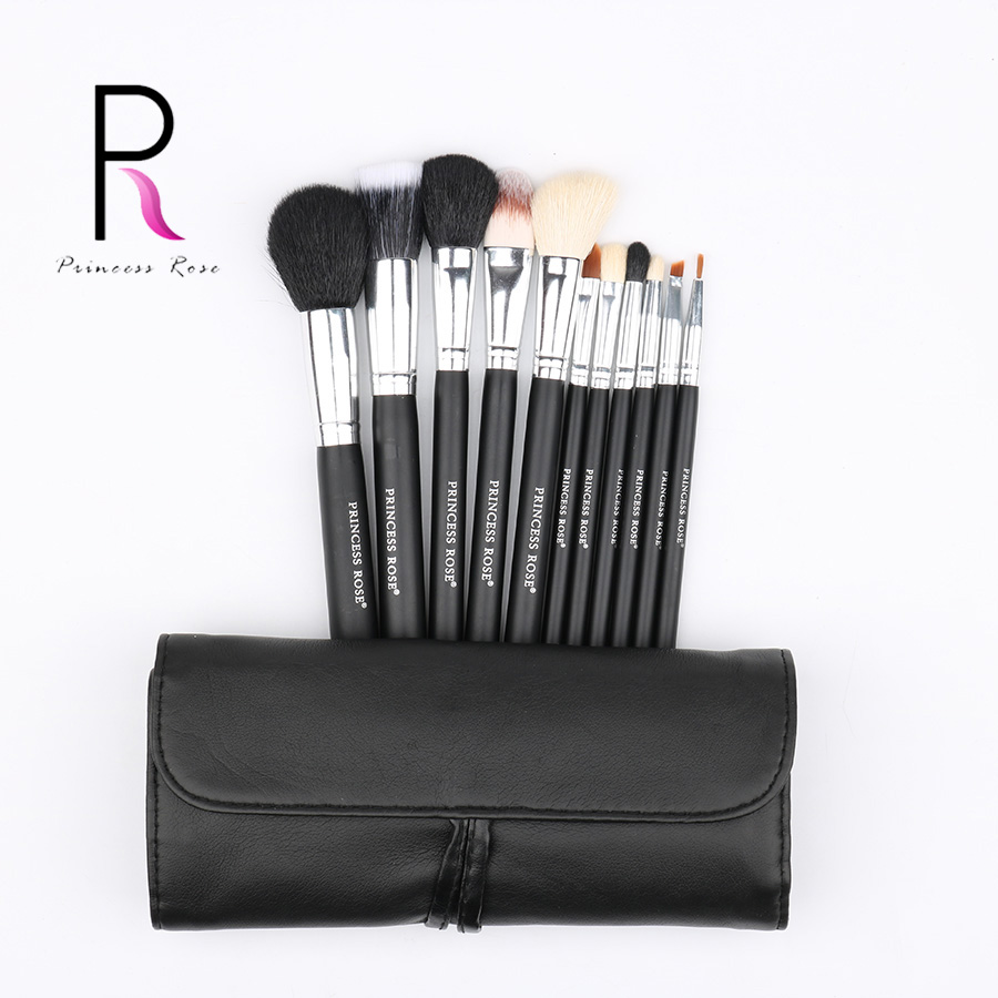 Princess Rose 11pcs Goat Horse Hair Professional Make Up Brush Kit Makeup Brushes Set Pincel Maquiagem Pinceis Brochas PR11B princess pr 1300