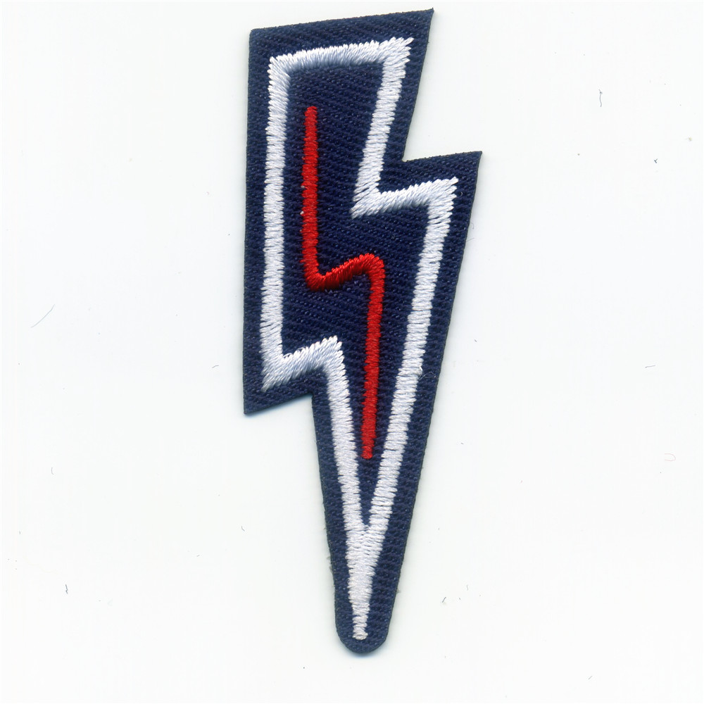 Black Lightning Patches Iron On Embroidered Patch For Clothing Stick On Badge Paste For Clothes Sew On Bag Pants Popular in USA
