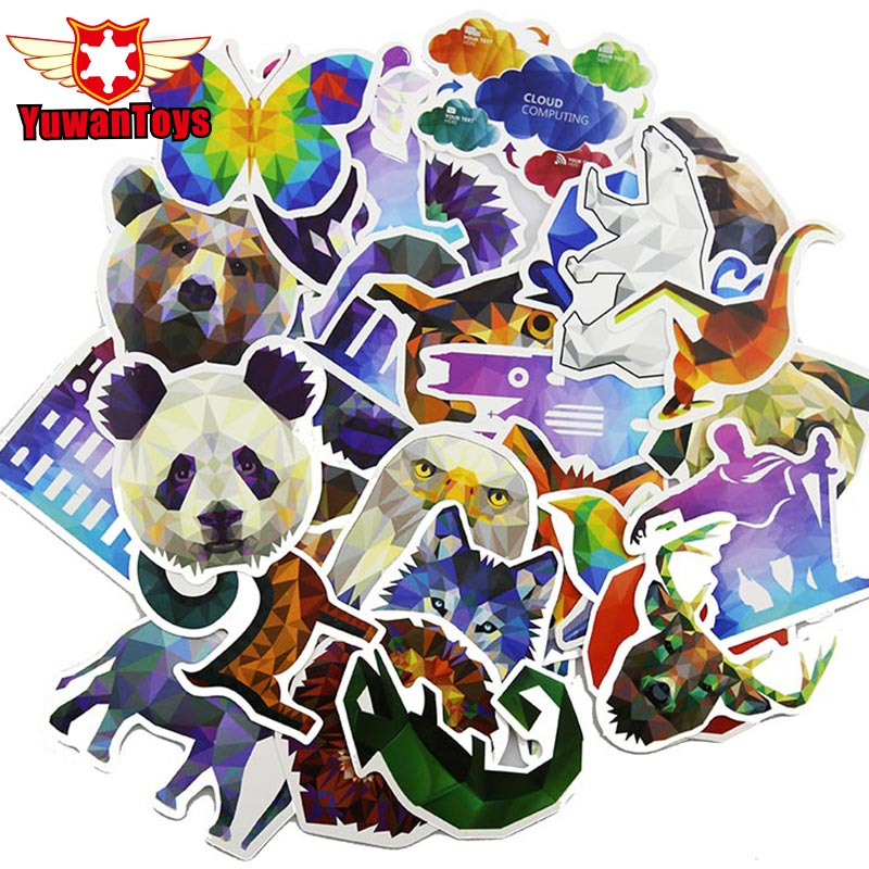 Dashing 35pcs Pvc Diamond Animal Stickers For Laptop Motorcycle Notebook Refrigerator Skateboard Mobile Phone Backpack Tables Sticker