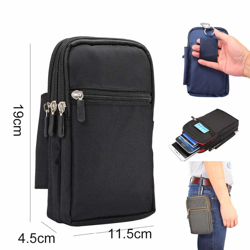 Cheap Sale Super Large Size Phone Bag Universal Outdoor Wallet Bags Case For All Phone Model Belt Pouch Holster Bag Outdoor Pocket