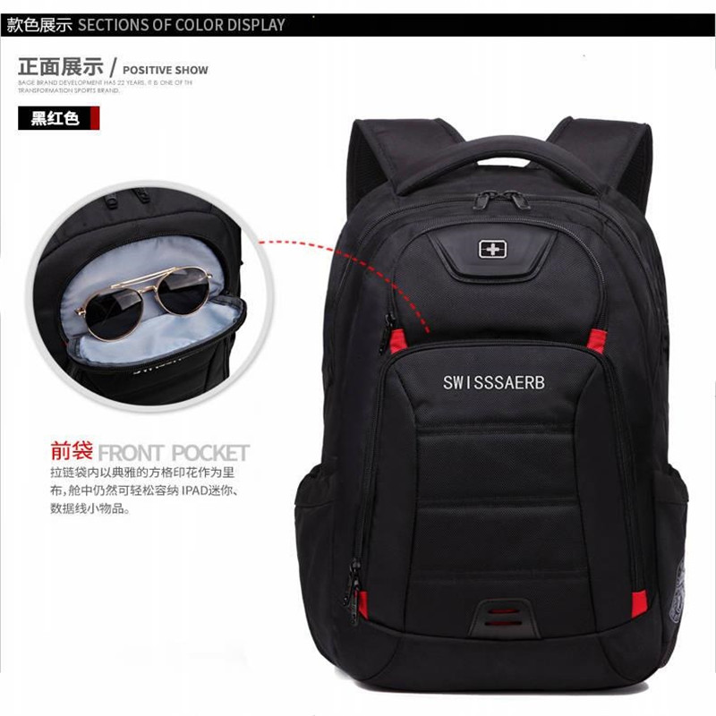 Swiss 17 Inch Computer Laptop Bagpack Travel Business Backpacks Teenagers School Students Backpacks Travel Sac A Dos Mochilla