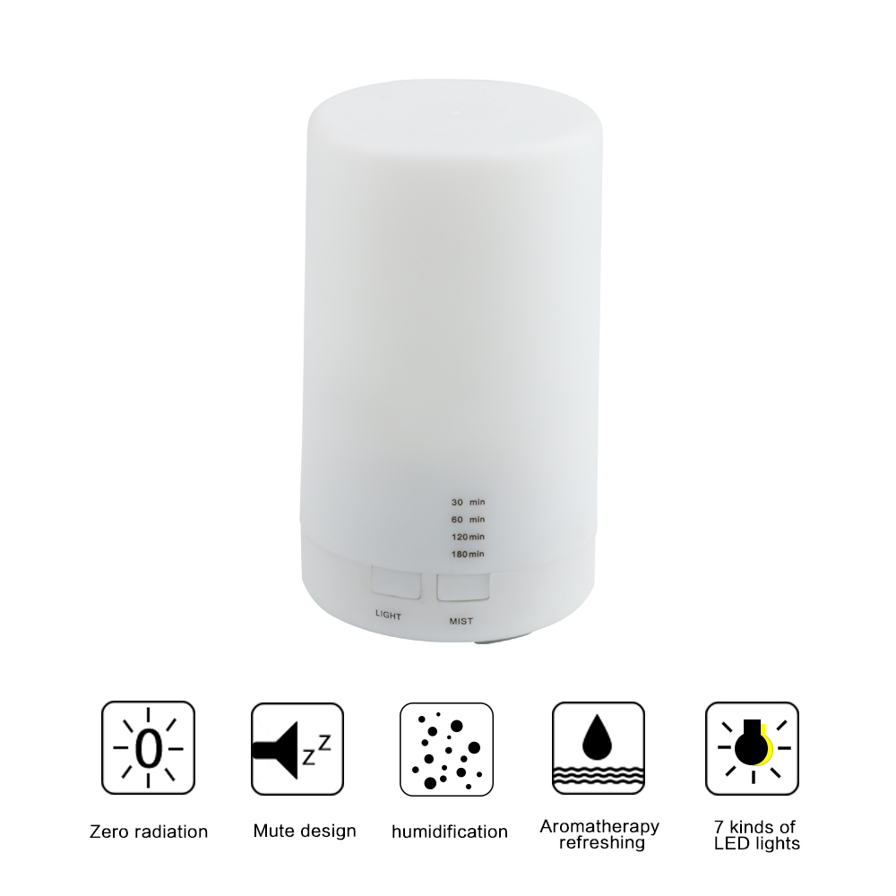 FUNHO Air Ultrasonic Humidifier USB Charging 5 Color Led Night ...