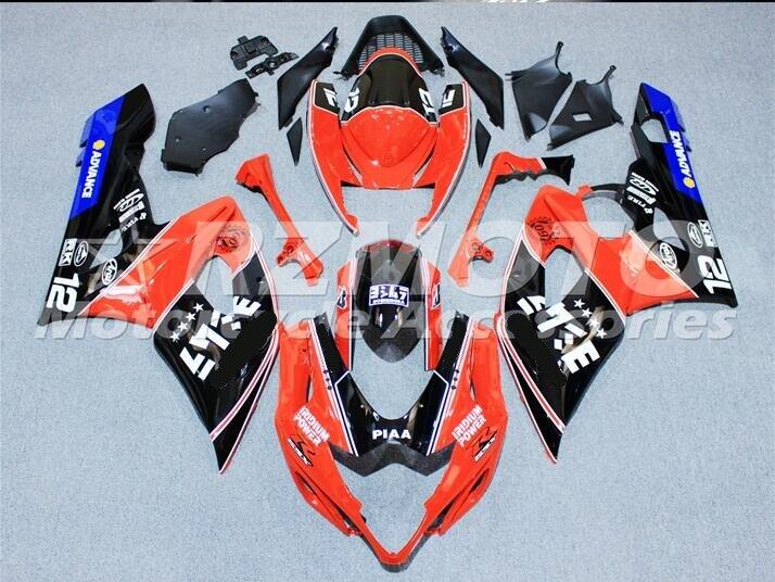 KITS ACE nouveau Kit de carénages d'injection ABS adapté pour SUZUKI GSXR1000 K5 2005 2006 GSX-R1000 05 06 noir argent A62