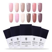 BORN PRETTY 12 Bottles Nude Nail Gel Polish 10ml Soak Off UV Gel Polish Set 12 Colors