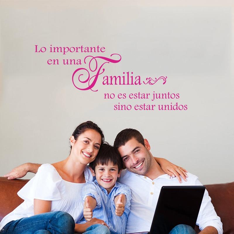 Fototapeta Španělská rodina Společně Vinyl Wall Sticker Wall Decal Art Sticker Nástěnná výzdoba domu Decor dům DD0180