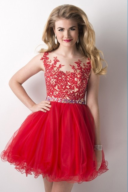 Junior High Graduation Dresses A Line Spaghetti Strap Appliques Long