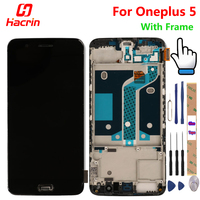 OnePlus 5 Screen With Frame LCD Display Touch Screen Assembly Replacement For One Plus Five Mobile